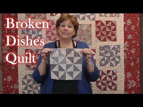 Broken Dishes Quilt Using Precut Fabrics