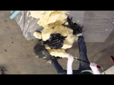 Making foam in a garbage can
