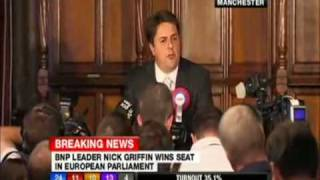 BNP - Nick Griffin victory speech in Manchester (full version)