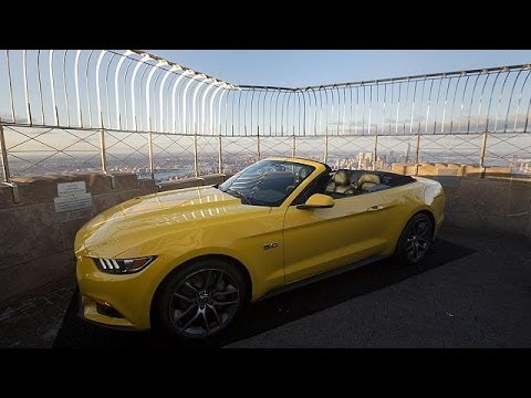 Ford Mustang takes a ride to the top of New York klip izle