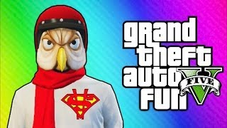GTA 5 Online Funny Moments - Helmet Glitch, Superman Truck, Jet Challenge Fails!