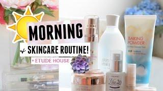 Korean Skincare Routine! | ETUDE HOUSE 에뛰드 Anti Aging Skincare Routine, Thin Tea, Makeup, Outfit