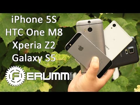 Apple iPhone 5S VS Samsung Galaxy S5 VS Sony Xperia Z2 VS HTC One M8: битва титанов от FERUMM.COM