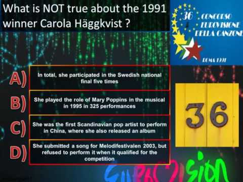 Eurovision Trivia Quiz *Question 36: 1991* klip izle
