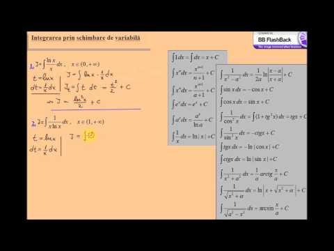 Integrare prin schimbare de variabila (lic_schimbarevar_ex4)
