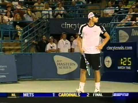 Agassi vs  Roddick: Cincinnati 2004