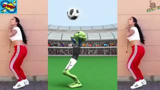 Musically Dame Tu Cosita Football Challenge by Girl ⚽ El Chombo FIFA Alien Frog Green