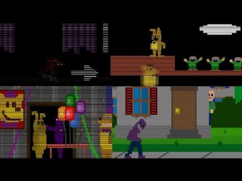Все мини-игры из Five nights at Freddy's 2, 3, 4, 5
