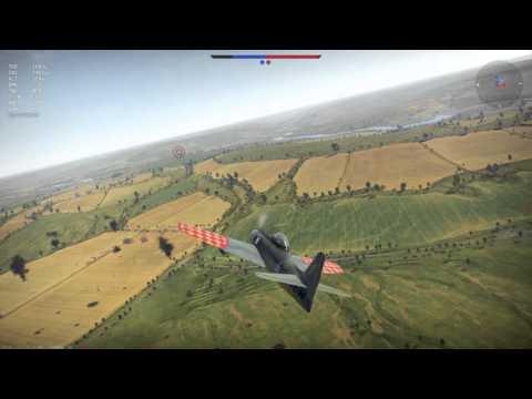Как бомбить в реальном бою на истребителе? (F8F1-1B бреющий полет)