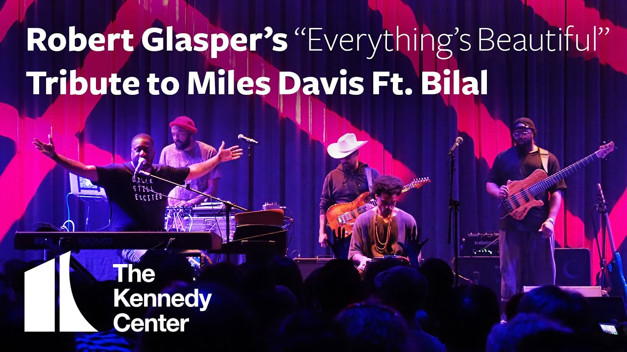 "Robert Glasper - 2019.09.21 The Kennedy Centerにて行われた「Robert Glasper's ""Everything's Beautiful"" Tribute to Miles Davis Featuring Bilal」約2時間のライブ映像を公開 thm Music info Clip"