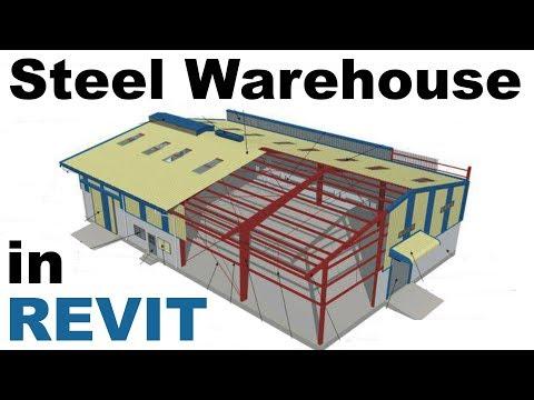 Steel Warehouse Construciton in Revit Tutorial