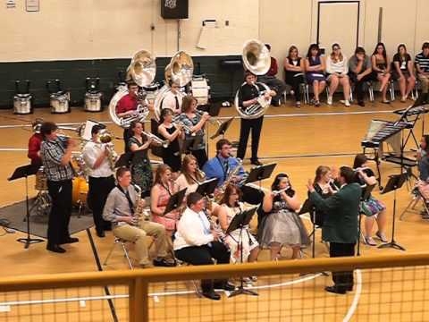 "Braxton County High School Pep Band performing ""Born to be Wild"" at 2013 Spring Concert"