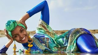 Halima Aden becomes first Sports Illustrated swimsuit cover model to wear hijab