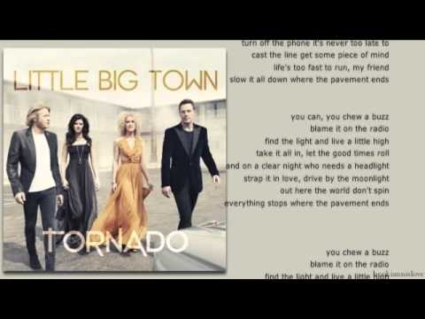 Little Big Town - Pavement Ends - Lyrics Video (hq Audio) video