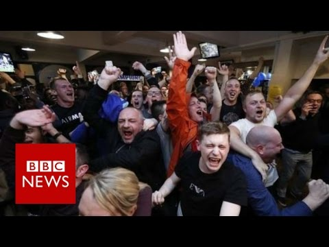 Moment Leicester City became Premier League champions (360 video) - BBC News