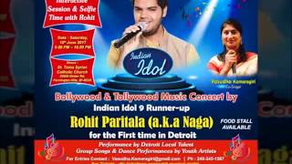 PVNS Rohit Inviting to Detroit Musical Concert on June 10th