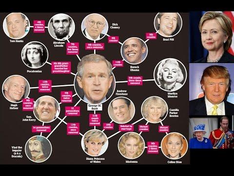 Hillary Clinton Y Donald Trump Son Primos! Linaje Walk-in Illuminati Controla El Mundo