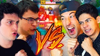 ¡¡ANTRAX Y BYVIRUZZ VS. THEALVARO845 Y WITHZACK!! ARRASANDO EN 2 VS. 2 | Clash Royale