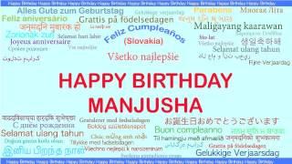 Manjusha   Languages Idiomas - Happy Birthday