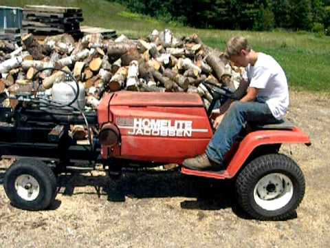 Jacobsen Homelite Homemade Woodsplitter Youtube
