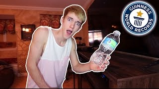 I BEAT THE WATER BOTTLE FLIP WORLD RECORD!!