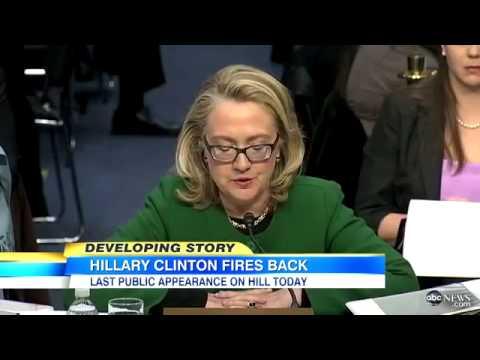 Hillary Clinton Congressional Hearing: Combats Benghazi Questionin