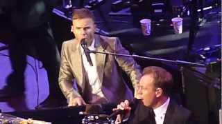 """Gary Barlow @ Royal Albert Hall - Singing with Jason Donovan """"Too Many Broken Hearts"""" - 06/12/11"""