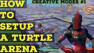 How to setup turtle fights in creative  - Fortnite Creative Modes #1