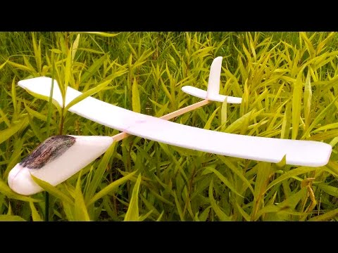 Планер из пенопласта своими руками / Styrofoam plane