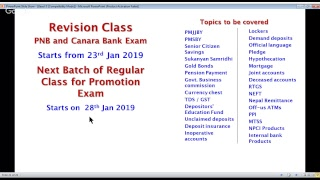 Bank Promn Exam- Free LIVE CLASS with NS Toor 17.01.19