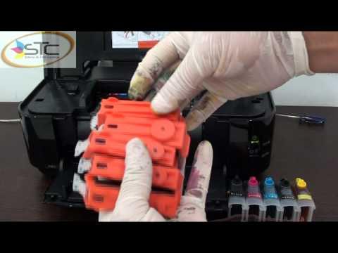 Sistema de Tinta Continua Canon 125 / 126 Pixma Ip4810 STC(