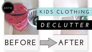 DECLUTTERING SPECIAL KIDS CLOTHES | 30 Day Declutter Challenge: Day 12