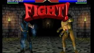 Mortal Kombat 4 (Nintendo 64) Sub-zero Gameplay