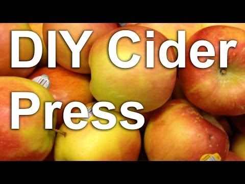 Homemade Cider Press Plans : GardenFork.TV