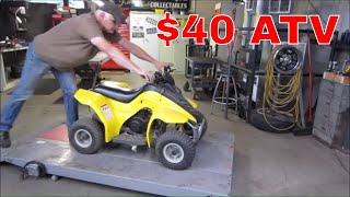 Will It Run? Cheap Yard Sale ATV.