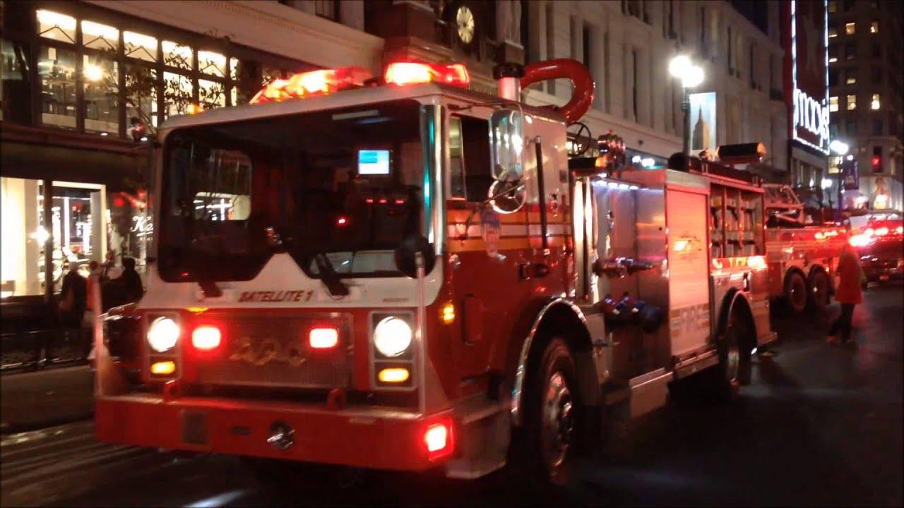 Major Fdny  Nypd  Ems Response To 2 Alarm Fire At Macy U0026 39 S