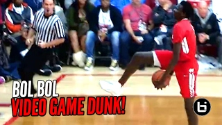 7 FOOTER Bol Bol Under The Legs Dunk In Game!!