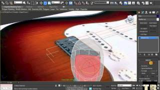 How To Model Guitar Fender Stratocaster in 3ds Max Part 5/8 HD