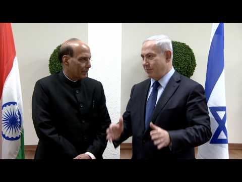 PM Netanyahu Meets Indian Home Affairs Minister Rajnath Singh