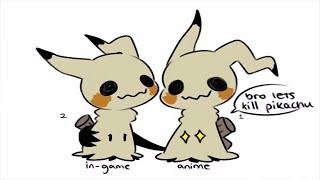 (Pokemon Sun and Moon Comic Dub) - Anime Mimikyu VS Game Mimikyu