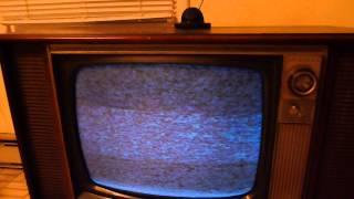 1969 Admiral 2221L black & white console TV