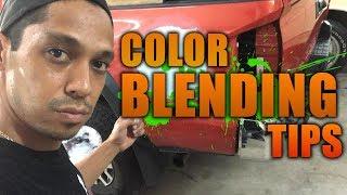 Body work color blending tips