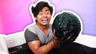 DIY GIANT BLACK BATH BOMB!