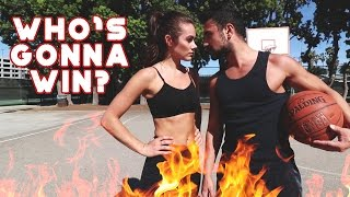 HOT GIRL PLAYS BASKETBALL (WHO WILL WIN?!)