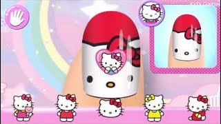 Hello Kitty Nail Salon Fun Game for Kids and households