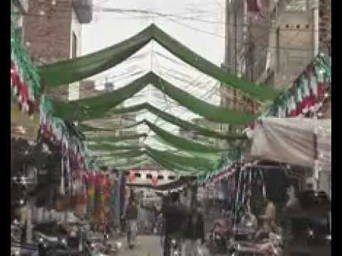 Sona Aya Tay Saj Gayi Galian Bazar Naat With Decoration In Pirmahal.flv video