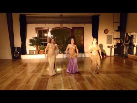 Belly Dance Hafla For Alanah Workshop: The Saltanah Dancers enta W'bass video