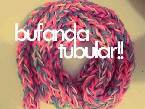 Watch DIY♥ BUFANDA TUBULAR CON LOS DEDOS / TUBULAR SCARF WITH FINGERS