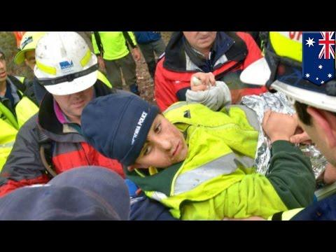 Dramatic rescue video: Australian police save autistic boy Luke Shambrook from rugged bushland
