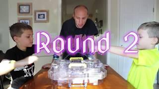 Twin vs Twin:  BeyBlade Burst Evolution! Strike Valtryek vs Noctemis! Family Fun Game for Kids